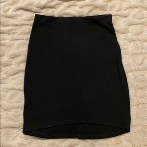 Brandy Melville black cotton high waist mini skirt